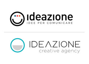IDEAZIONE Creative Agency Logo vecchio e nuovo